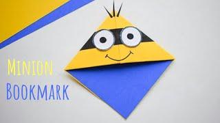 Cute Minion Corner Bookmark   DIY Corner Page Bookmarks   Fun Minion Craft Ideas