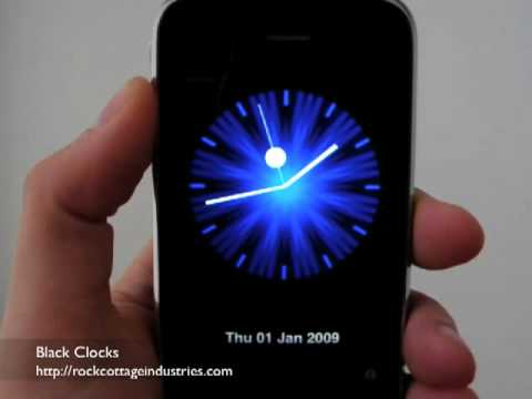 Black Clocks - Analog Clock Faces for iPhone