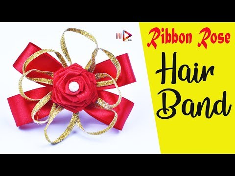 Gorgeous Rose For Hair Band Easy   Satin Ribbon Rose Headband   DIY Decorative Hair Accessories