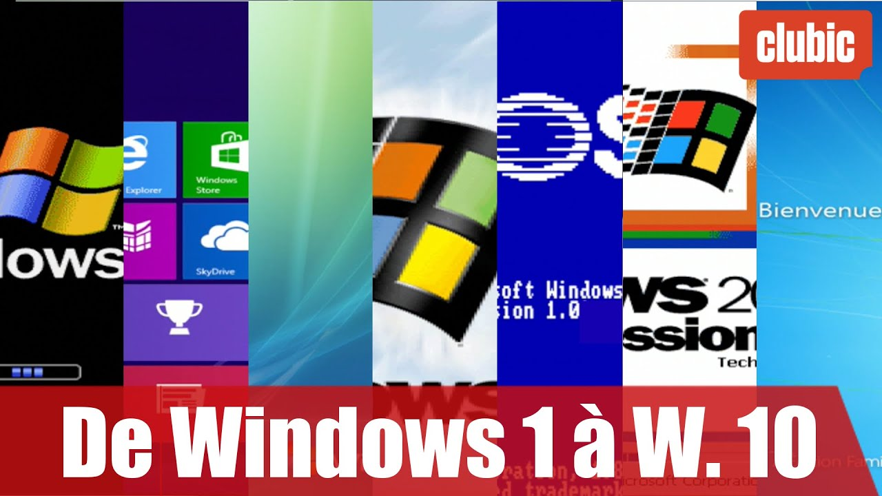 De windows 1 windows 10 30 ans d 39 volutions en 10 for 1 window