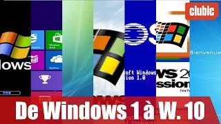 De Windows 1 à Windows 10 : 30 ans d