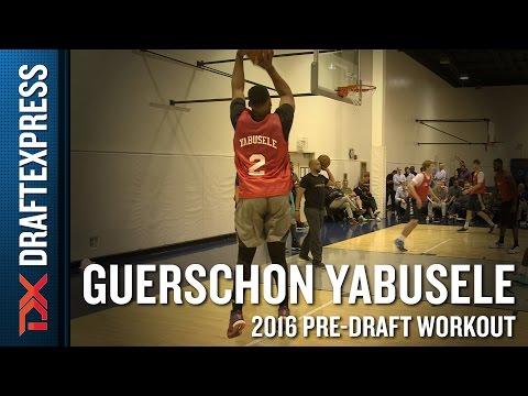 Guerschon Yabusele 2016 CAA Pro Day Workout Video