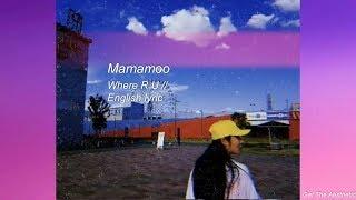 where R U // mamamoo english lyric // aesthetic