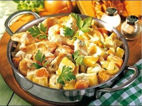Что можно приготовить из курицы и картошки на сковороде