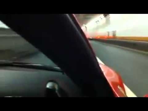 Ferrari 458 Italia extreme tunnel noise Holland Tunnel NYC