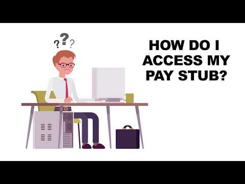 How to Access your Pay Stub - YouTube