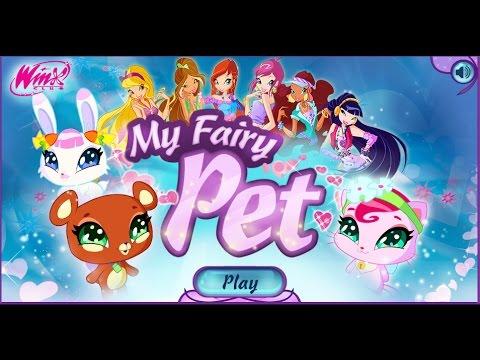Играем в игру - My Fairy Pet - Игра Винкс - создай своего питомца - у нас Зайка