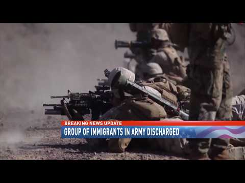 Group of immigrants in army discharged
