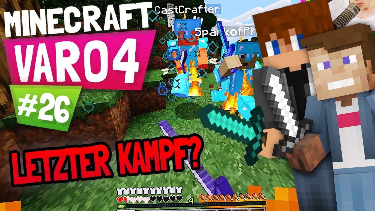MINECRAFT VARO KAMPF UM UNSER LEBEN Dner YouTube - Minecraft varo spiele