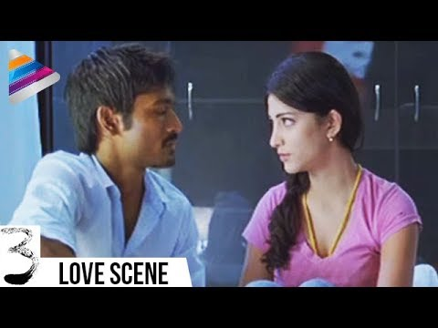 Dhanush and Shruti Haasan First Night | 3 Movie Movie Scenes | Anirudh | Telugu Filmnagar thumbnail