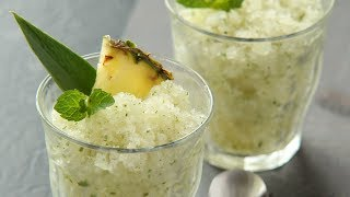 How to Make: Piña Colada Granitas