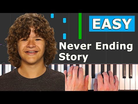 Never Ending Story - EASY Piano Tutorial - Stranger Things (how To Play)
