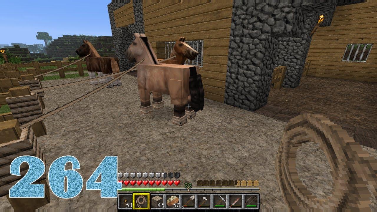 MINECRAFT HD Stall Pferde Und Mehr Lets Play Minecraft - Minecraft spiele mit pferden