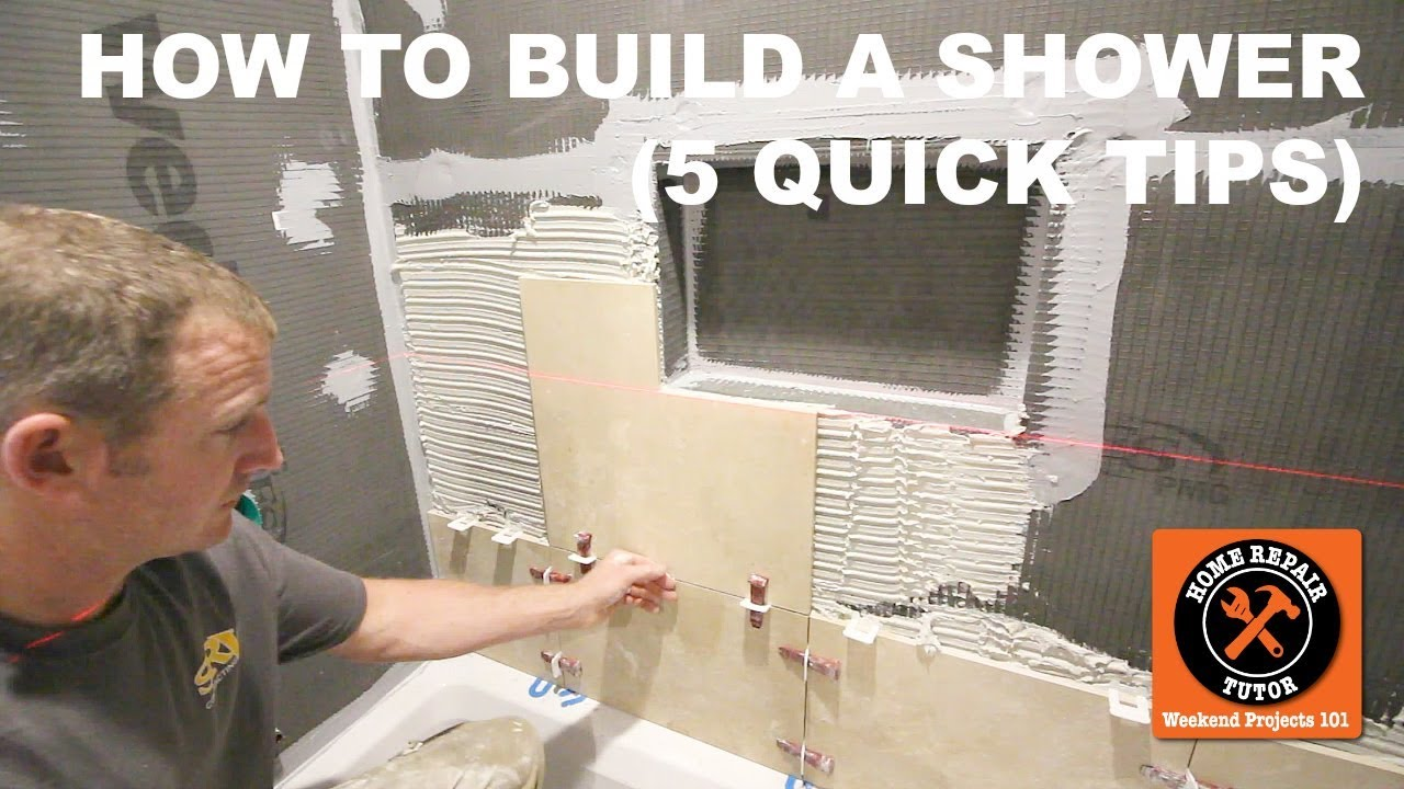how to build a shower youtube