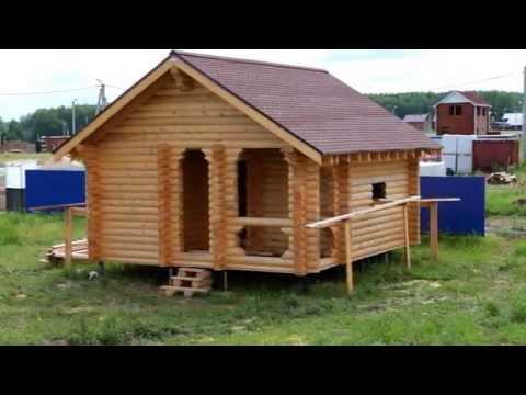 Как строятся дома и бани из бревна в Нижнем Новгороде и Нижегородской области.