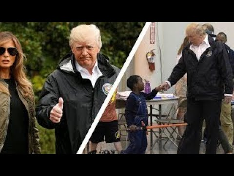 Trump Visits Hurricane Victims in Houston Shelter