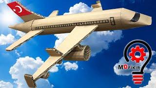 Kartondan yolcu uçağı nasıl yapılır?  Yolcu uçağı maketi