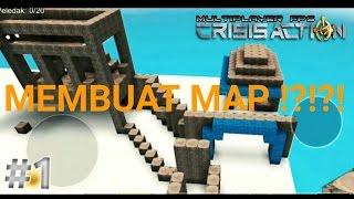 Map MINECRAFT Bisa Buat Arena Perang ?!?! - Membuat Map Di CRISIS ACTION #1