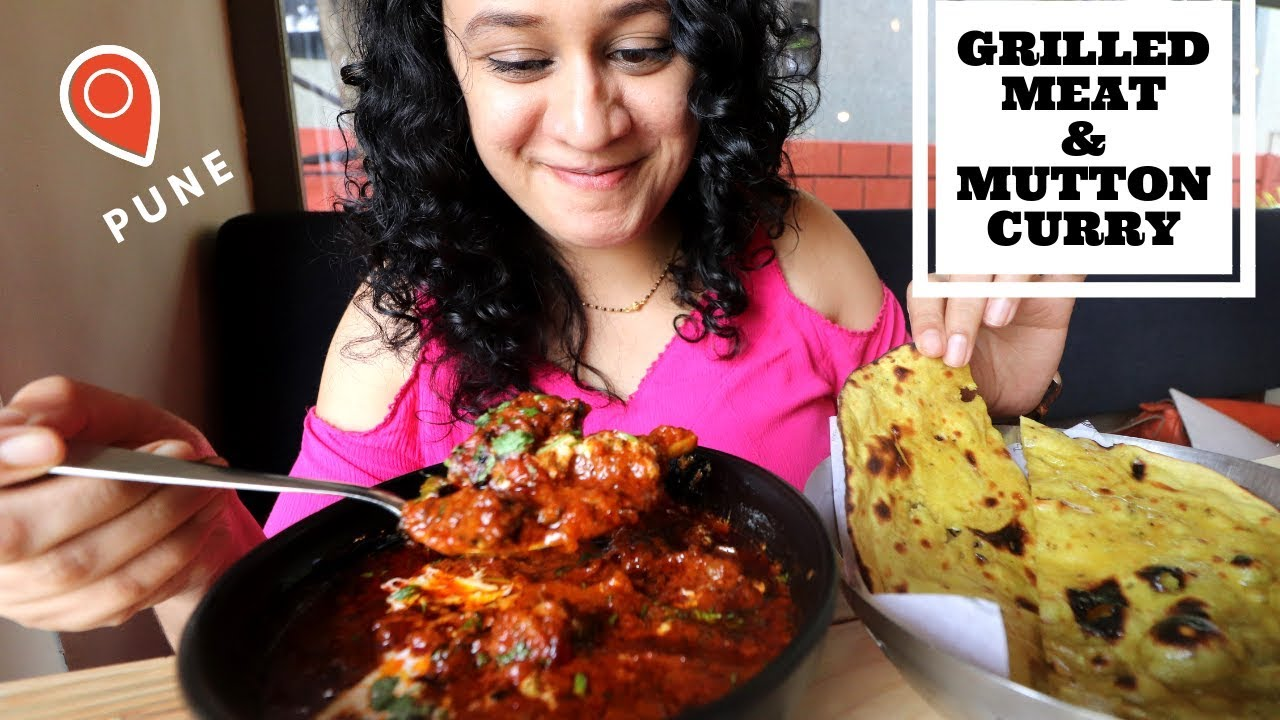 Grilled Meat and Mutton Curry | Grillicious | Pune Food | Indian Food Vlog