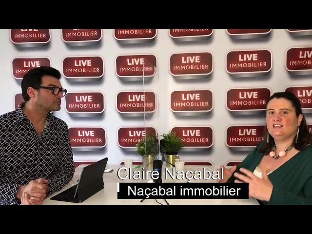 L'immobilier au Pays Basque avec Claire Naçabal de l'agence Naçabal immobilier à Saint Jean de Luz.