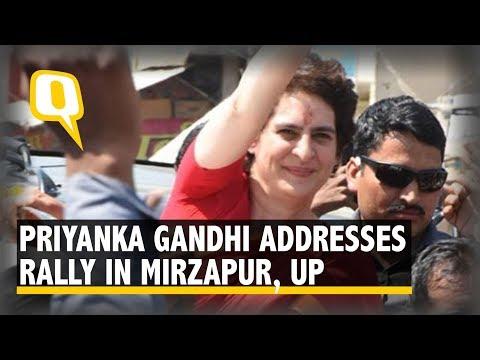 Priyanka Gandhi Addresses Rally in Mirzapur, UP