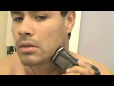 afeitado con rasuradora eléctrica philips parte 2