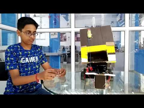 Automatic Garbage and Cleaning Truck - Project by Aakash Beginner