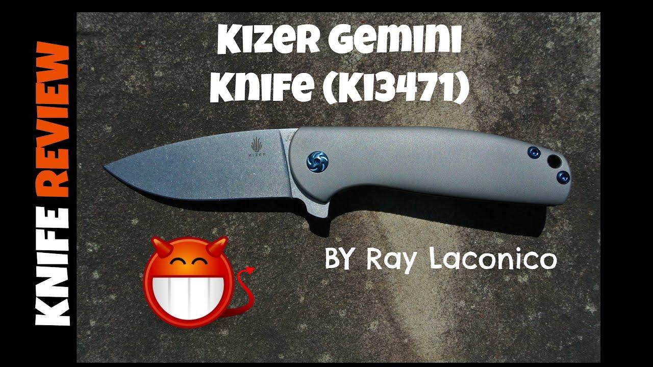 review kizer gemini knife ki3471 by ray laconico youtube