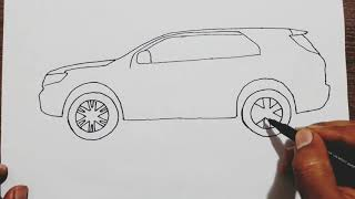How to draw Ford Endeavour step by step