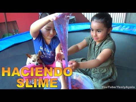 HACIENDO SLIME EN CAMA ELASTICA // YESLY