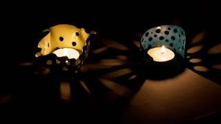 DIY : How to Make Candle Votive Using Clay | Creative Ideas For Home