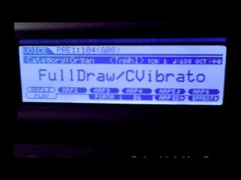 Yamaha moxf6 all Organs tone wheel