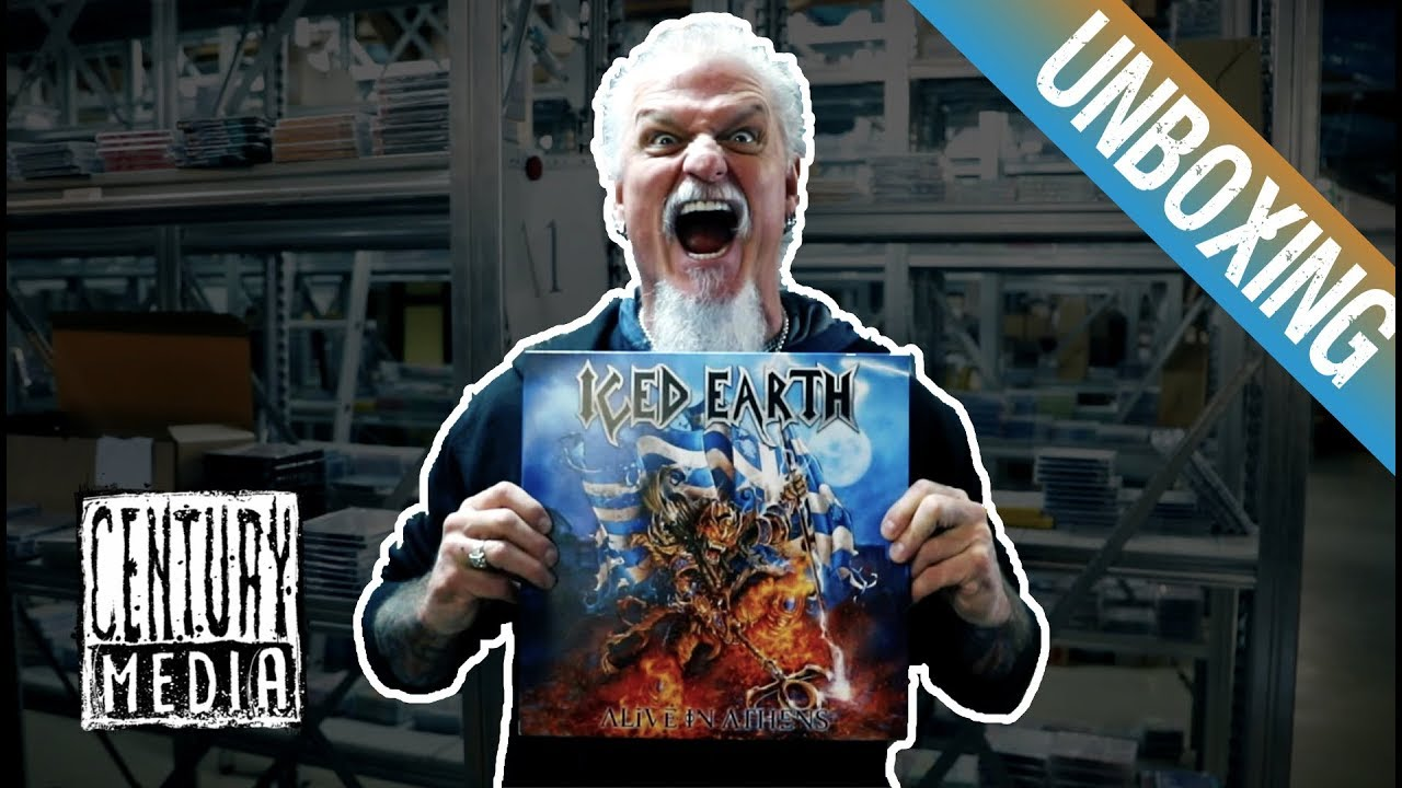 ICED EARTH — Jon Schaffer unboxes ALIVE IN ATHENS
