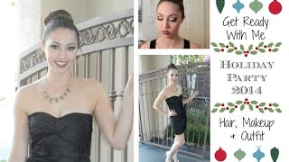 Get Ready With Me: Holiday Party 2014 - Hair, Makeup & Outfit / Semi-formal Thumbnail