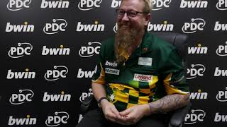 A supremely confident Simon Whitlock assesses his win over Peter Wright