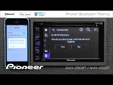 how to iphone bluetooth pairing on pioneer avh 290bt. Black Bedroom Furniture Sets. Home Design Ideas