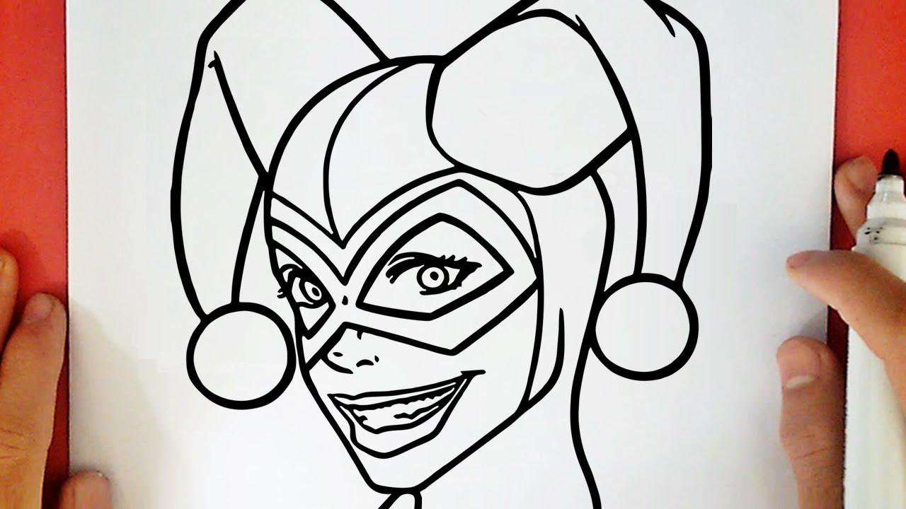 Harley Quinn Kawaii Para Colorear: HOW TO DRAW HARLEY QUINN