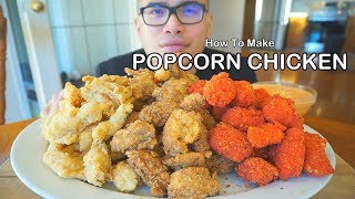 How to make POPCORN CHICKEN BITES *MONSTER SIZE