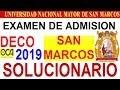 Gambar cover EXAMEN DE ADMISIÓN SAN MARCOS 2019 DECO SOLUCIONARIO INGRESO A LA UNIVERSIDAD UNMSM
