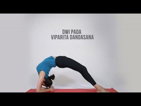 how to do dwi pada viparita dandasana  youtube