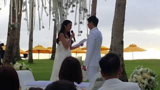 Maxene Magalona's wedding vows