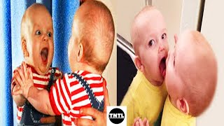 Funny Babies  First Time Sees the Mirror Compilation