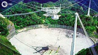 Exploring a HUGE Radio Telescope in VR 180