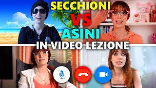SECCHIONI VS ASINI IN VIDEO LEZIONE | Eleonora Olivieri