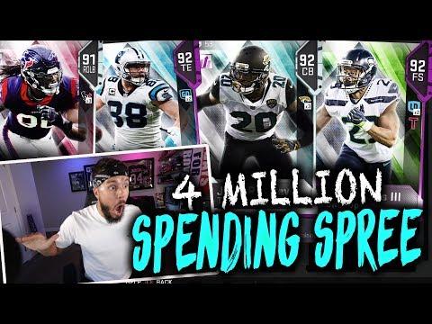 4 MILLION COIN SPENDING SPREE   MADDEN 19 ULTIMATE TEAM