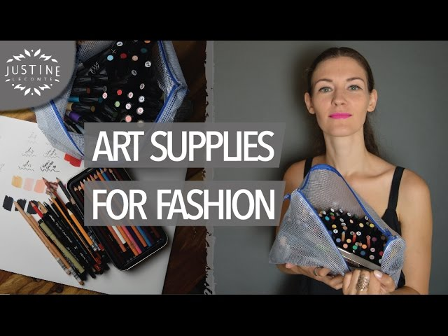 My Art Materials To Draw Fashion Sketches Justine Leconte Youtube