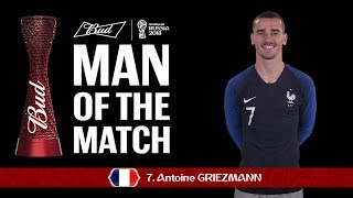 antoine griezmann - man of the match  2018 fifa world cup final