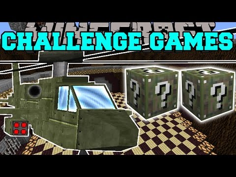 Minecraft: ATTACK HELICOPTER CHALLENGE GAMES - Lucky Block Mod - Modded Mini-Game