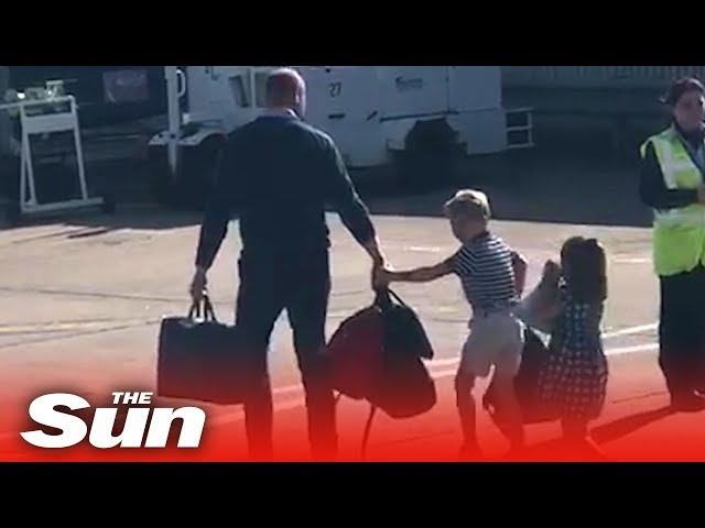 William, Kate & kids take £73 FlyBe flight after Harry and Megs get criticised over private jets