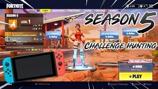 SEASON 5! - Fortnite Nintendo Switch - CHALLENGE HUNTING!